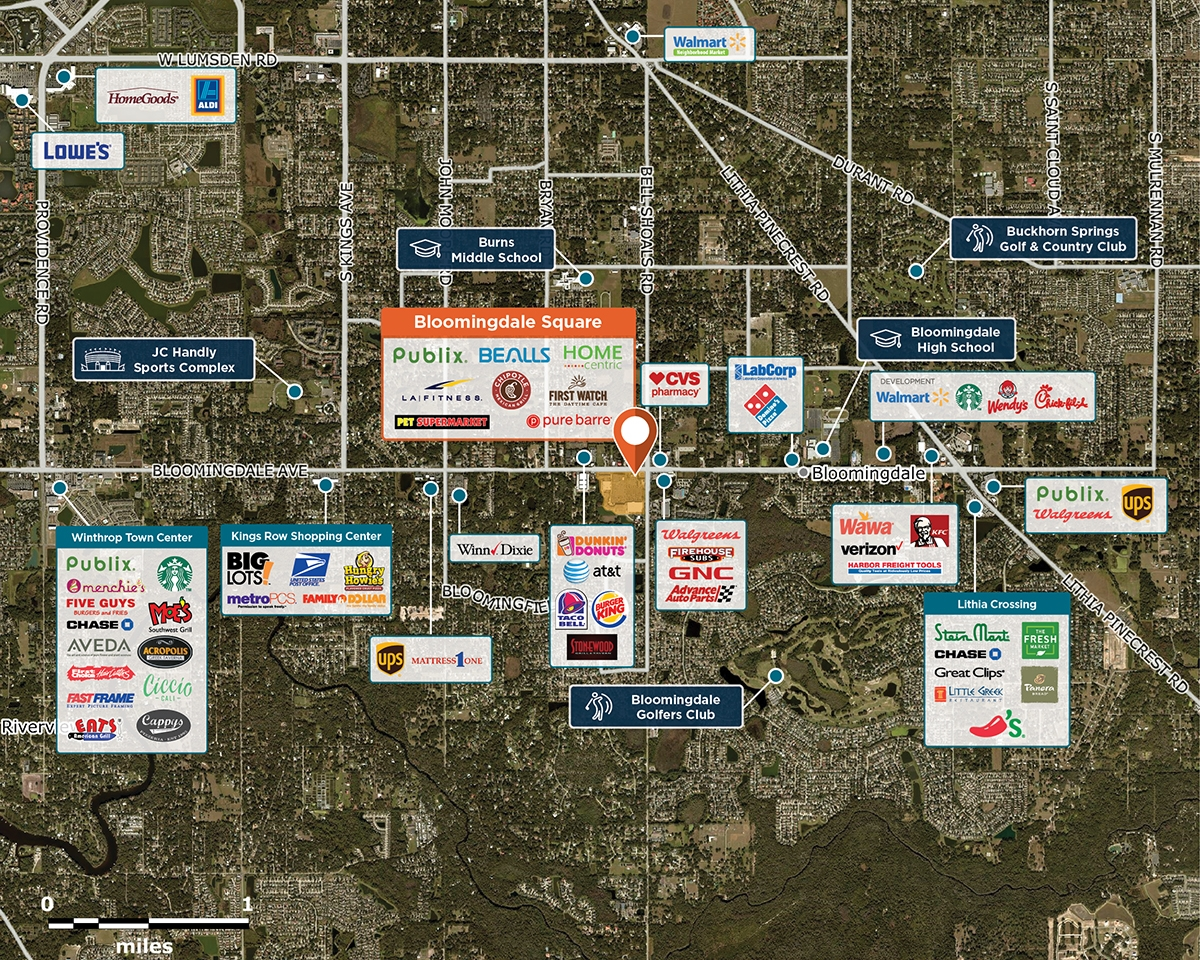 Bloomingdale Square Trade Area Map for Brandon, FL 33511
