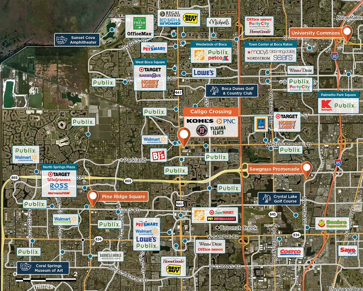 Caligo Crossing Trade Area Map for Coconut Creek, FL 33073