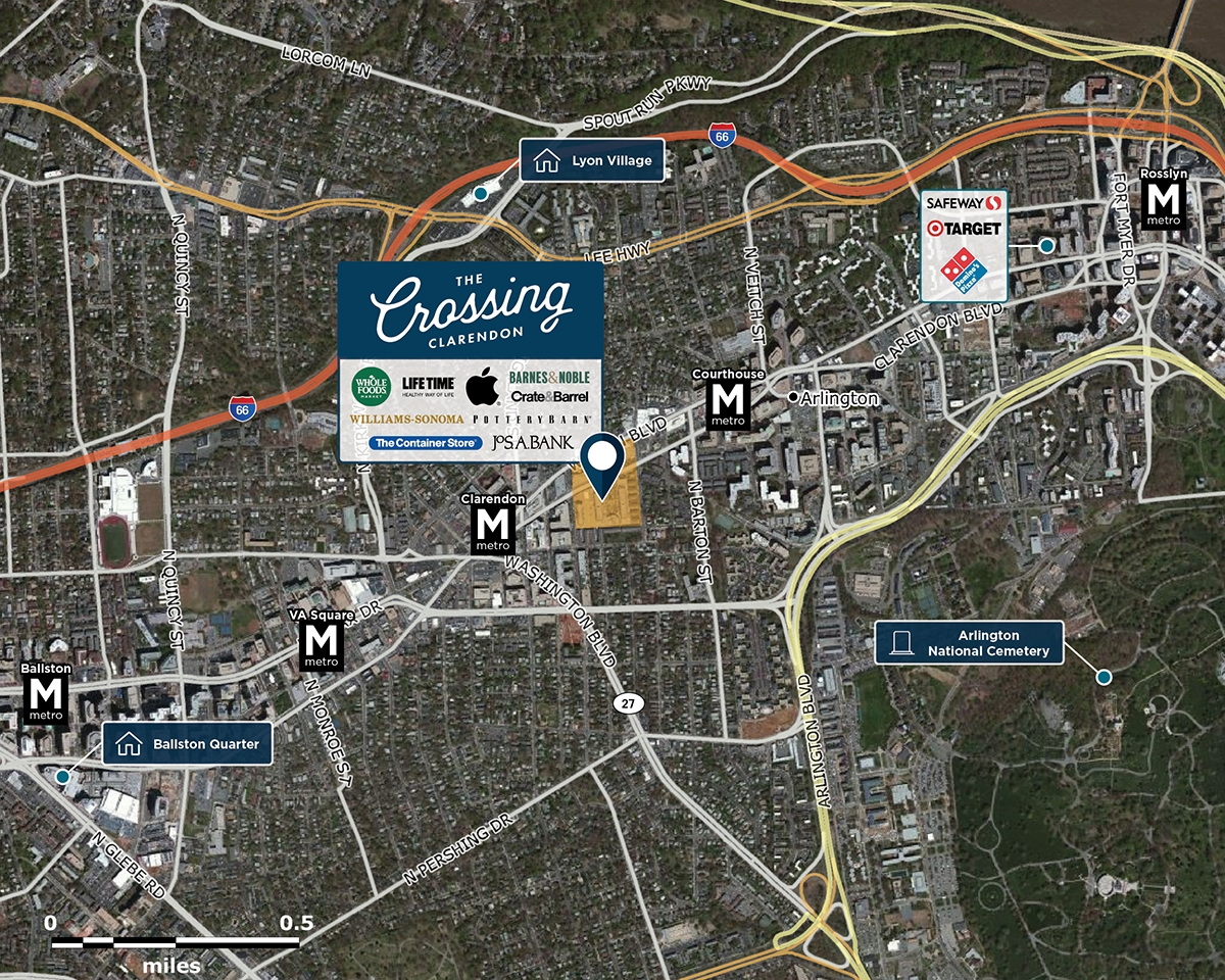 Market Common Clarendon Trade Area Map for Arlington, VA 22201