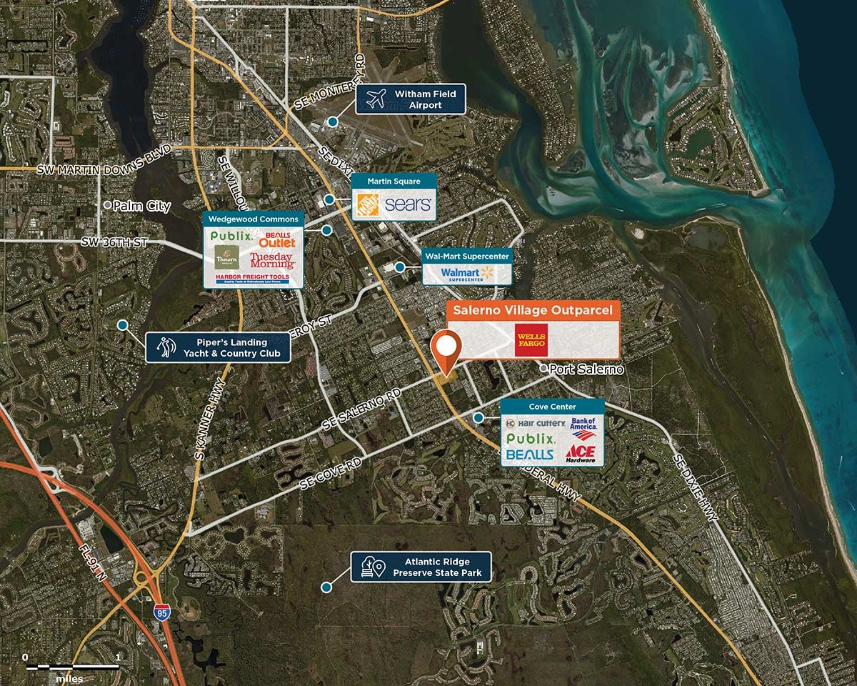Map Of Stuart Florida.Salerno Village Outparcel Stuart Fl 34997 Retail Space Regency
