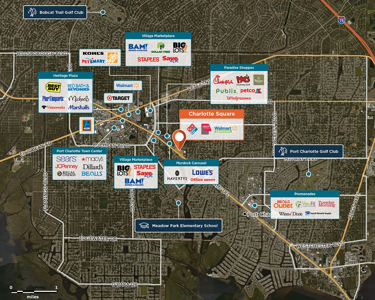 Charlotte Square Trade Area Map for Port Charlotte, FL 33948
