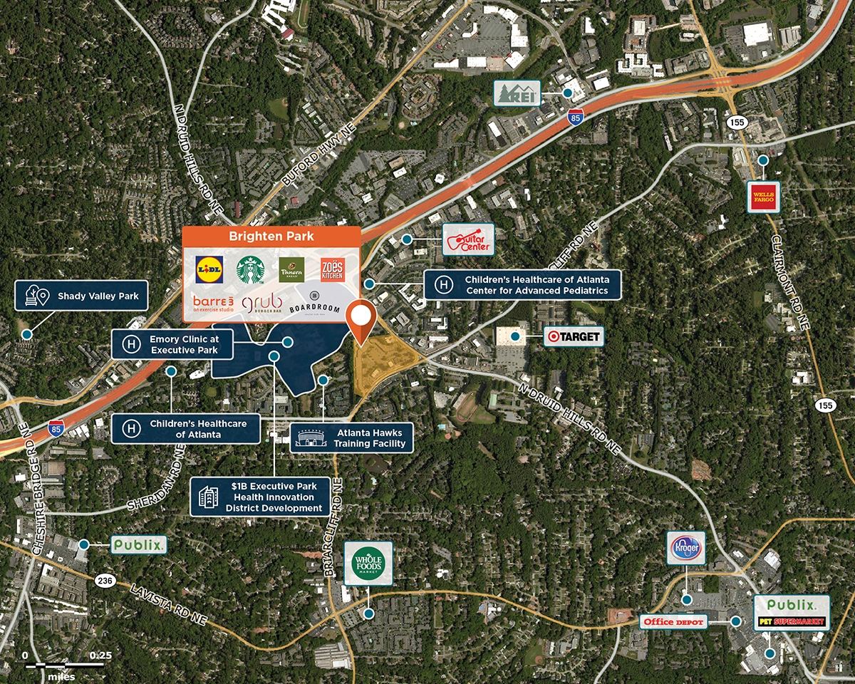 Brighten Park Trade Area Map for Atlanta, GA 30329