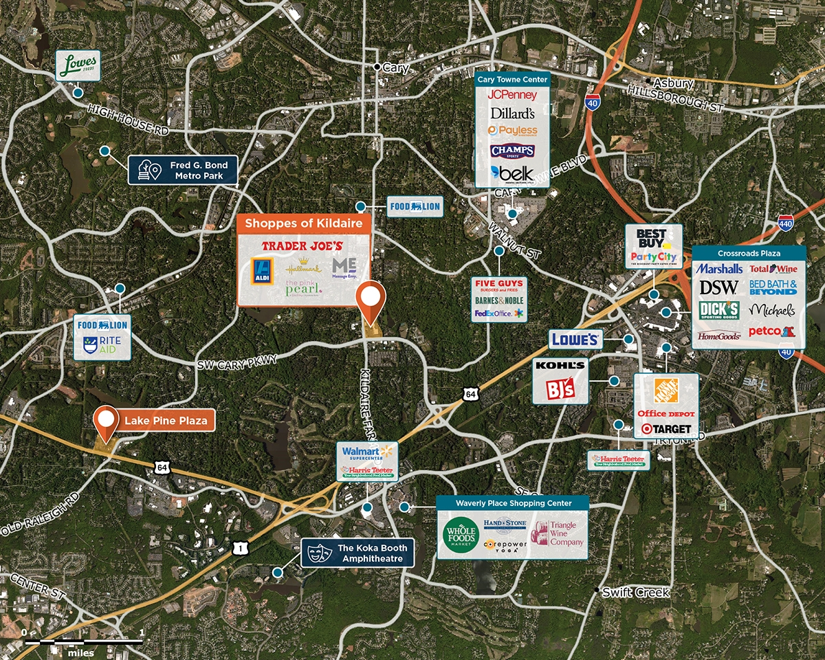 Pes Of Kildaire Trade Area Map For Cary Nc 27511