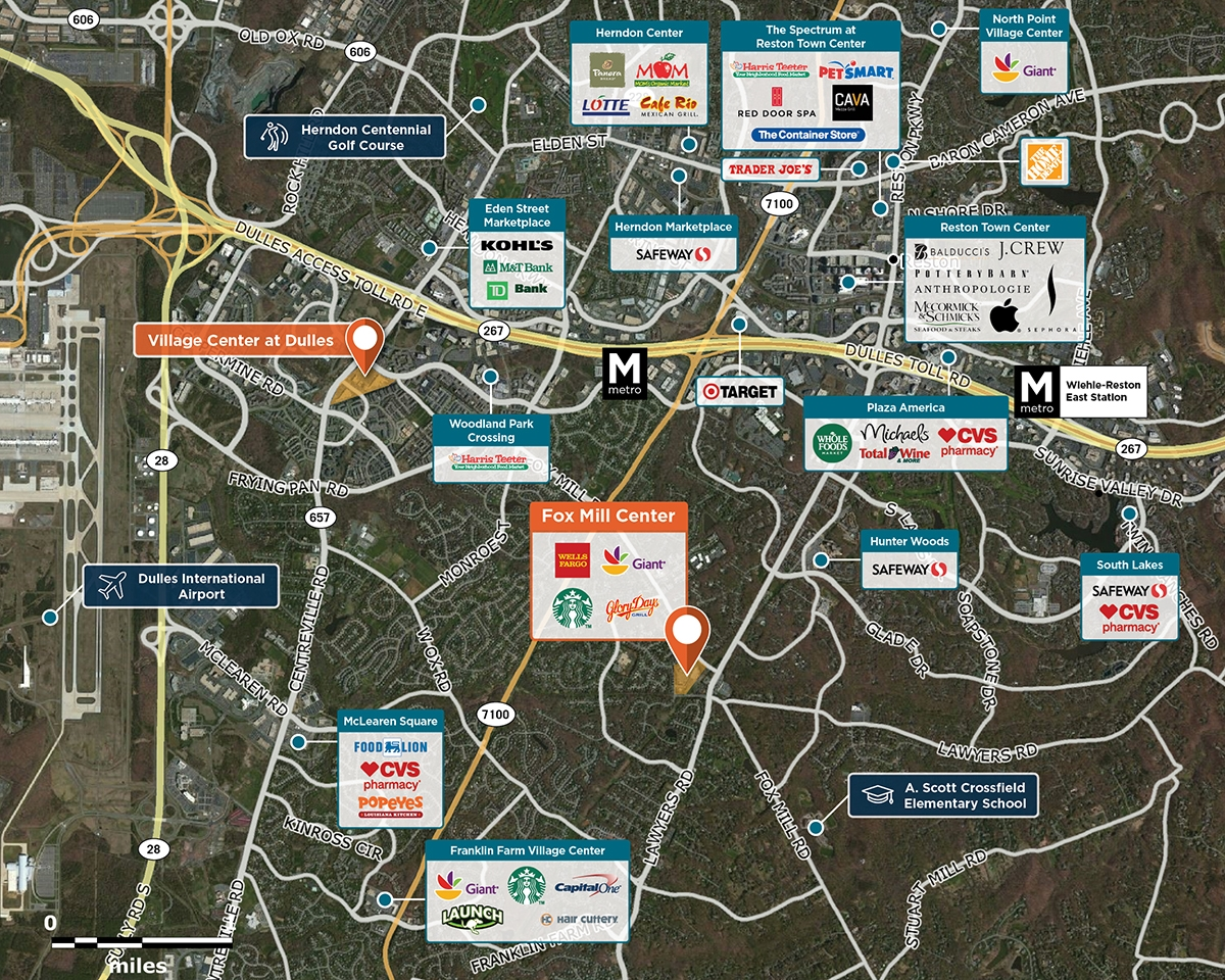 Fox Mill Shopping Center Trade Area Map for Herndon, VA 20171