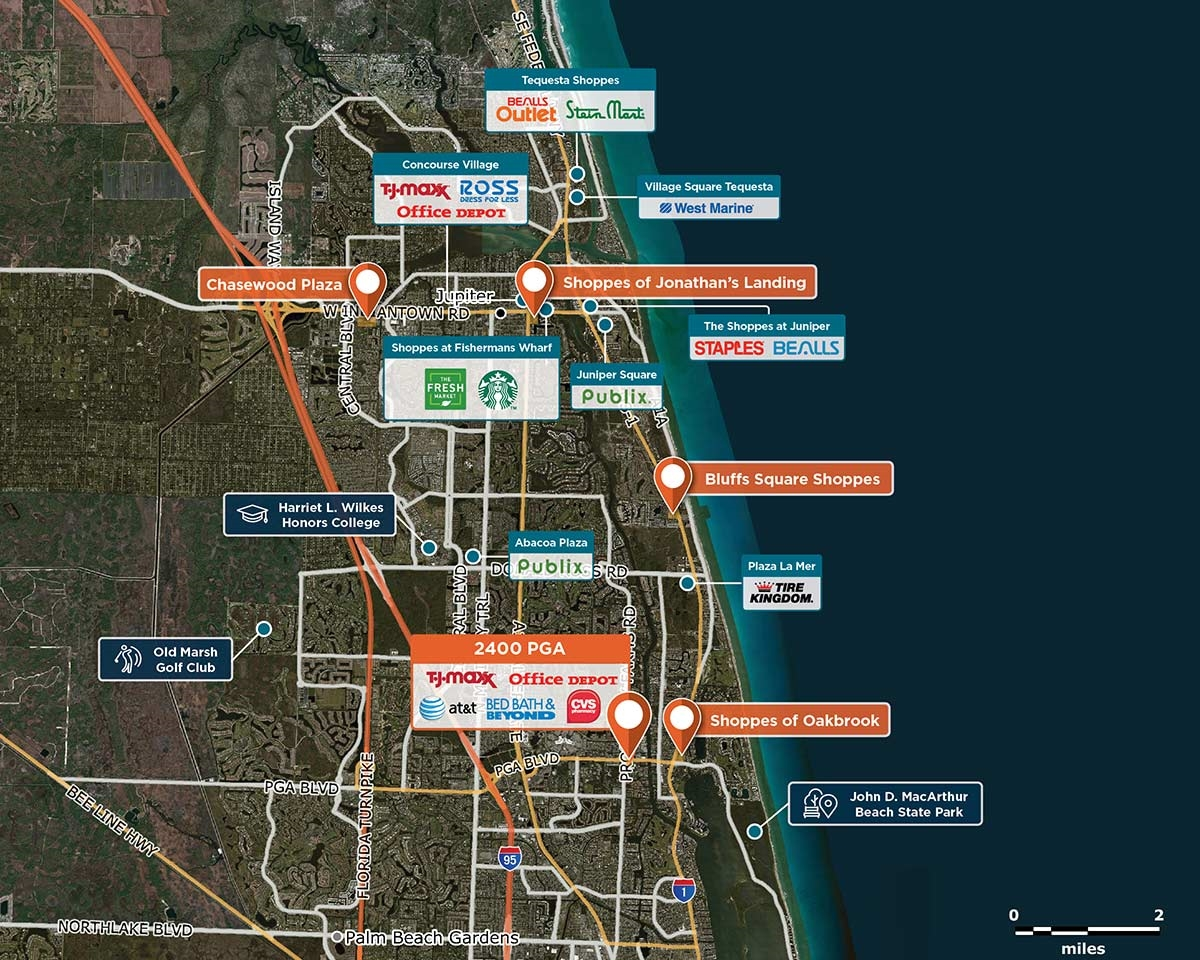 2400 PGA Trade Area Map for West Palm Beach, FL 33410