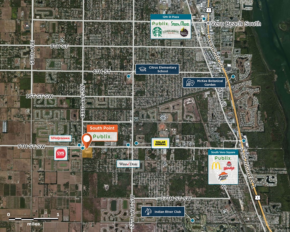 South Point Trade Area Map for Vero Beach, FL 32968