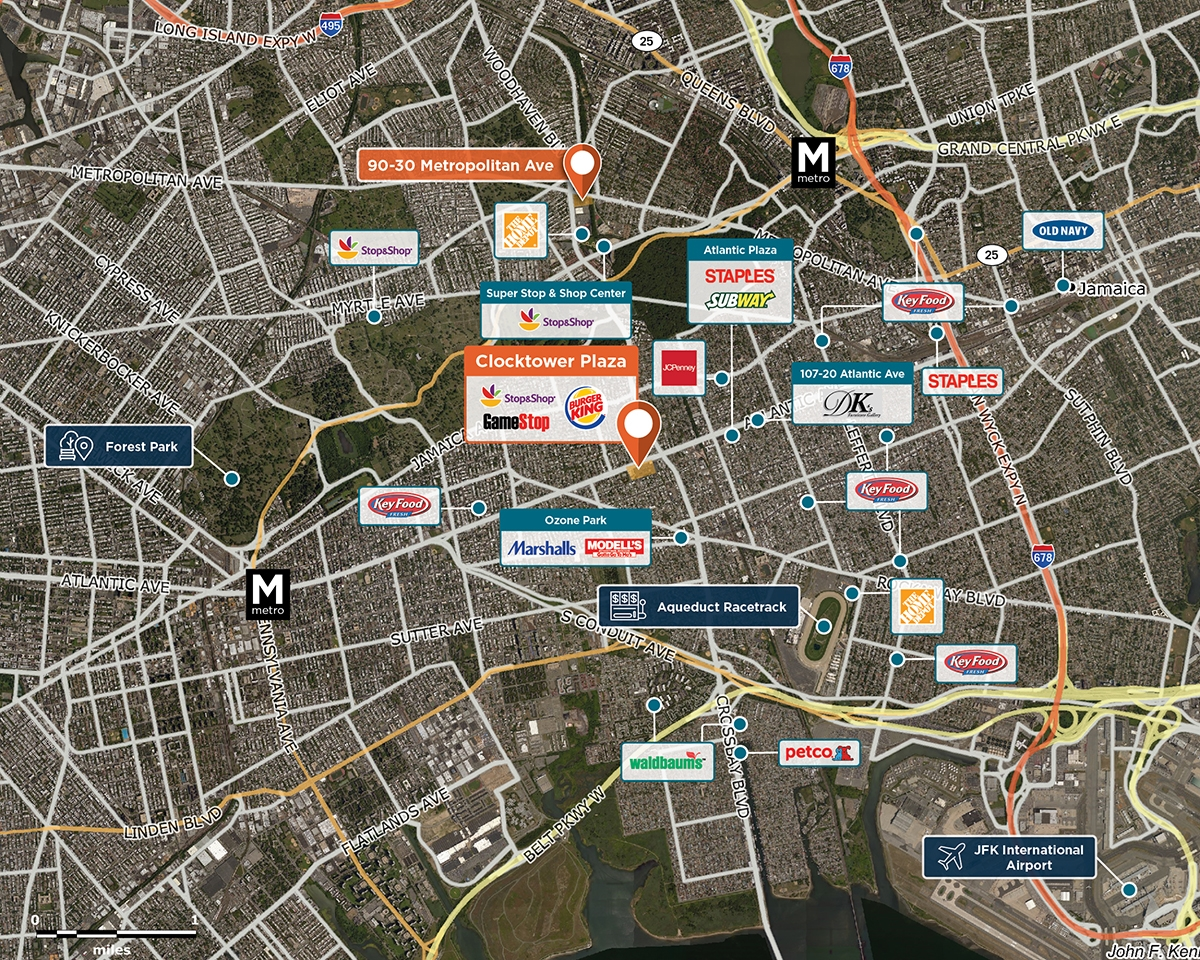Clocktower Plaza Trade Area Map for Queens, NY 11416