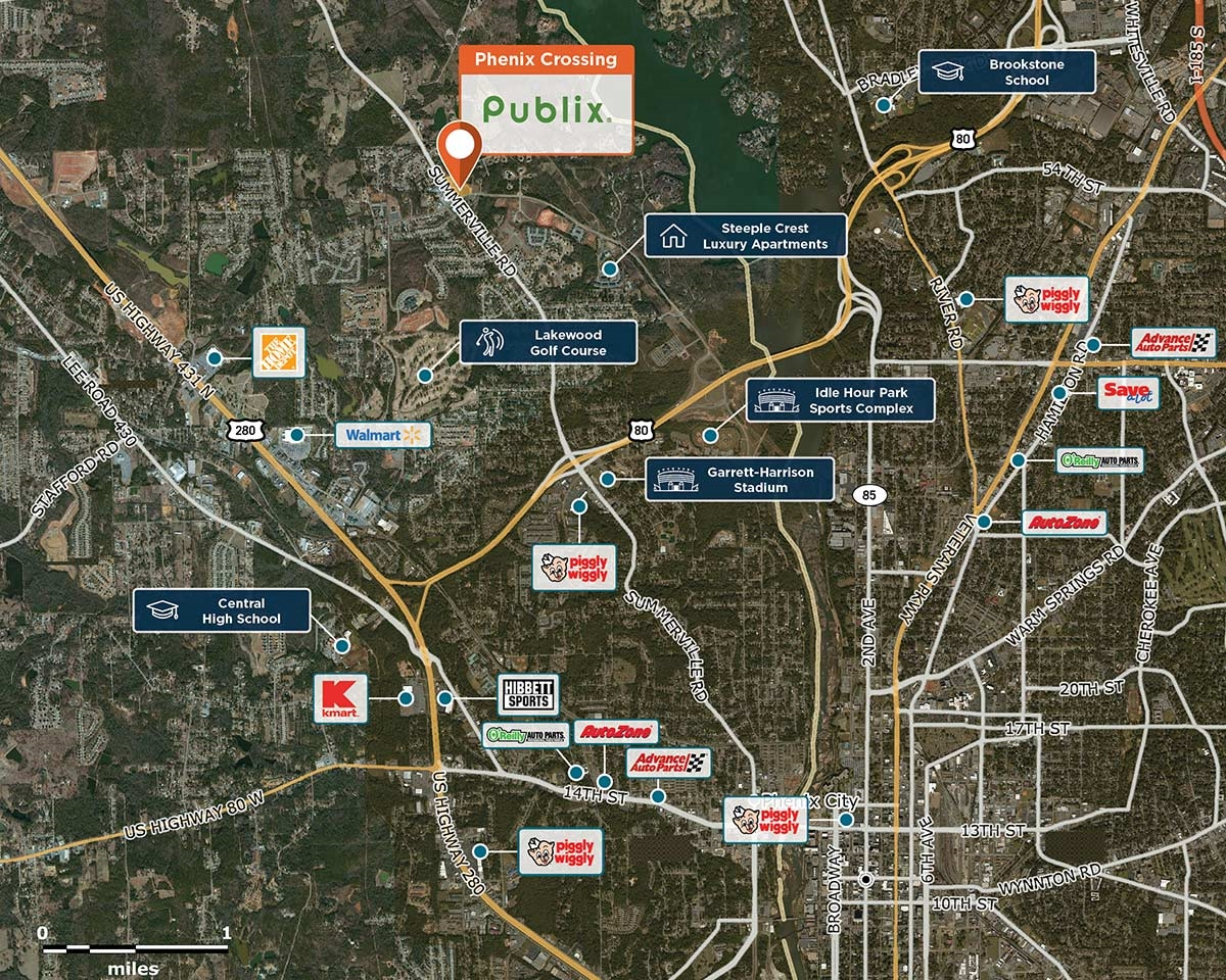 Phenix Crossing Trade Area Map for Phenix City, AL  36867