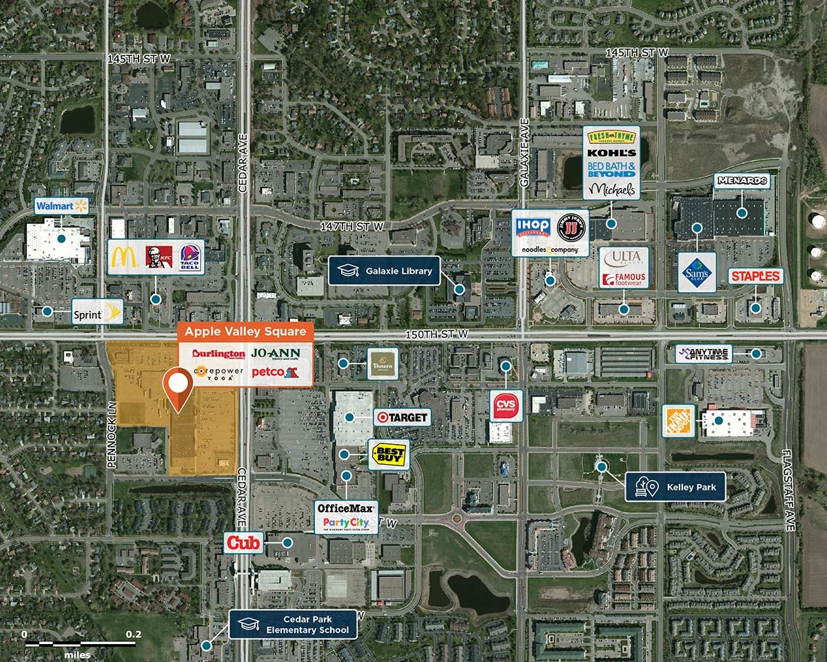 Apple Valley Square Trade Area Map for Apple Valley, MN 55124