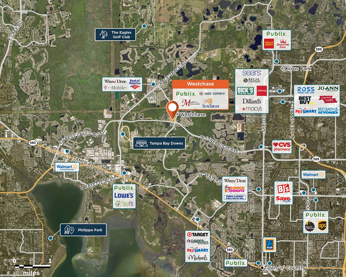Westchase Trade Area Map for Tampa, FL 33618