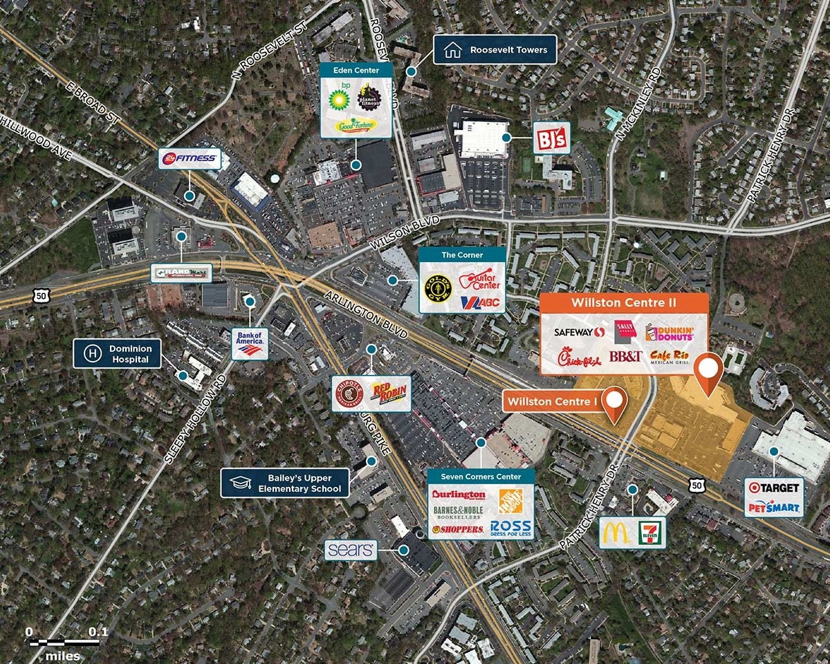 Willston Centre II Trade Area Map for Falls Church, VA 22044