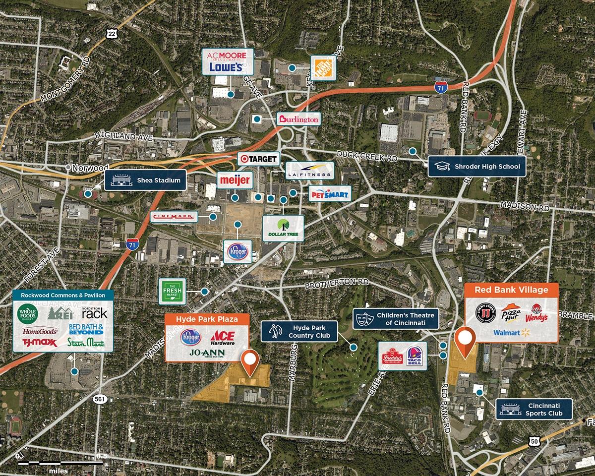 Red Bank Trade Area Map for Cincinnati, OH 45227