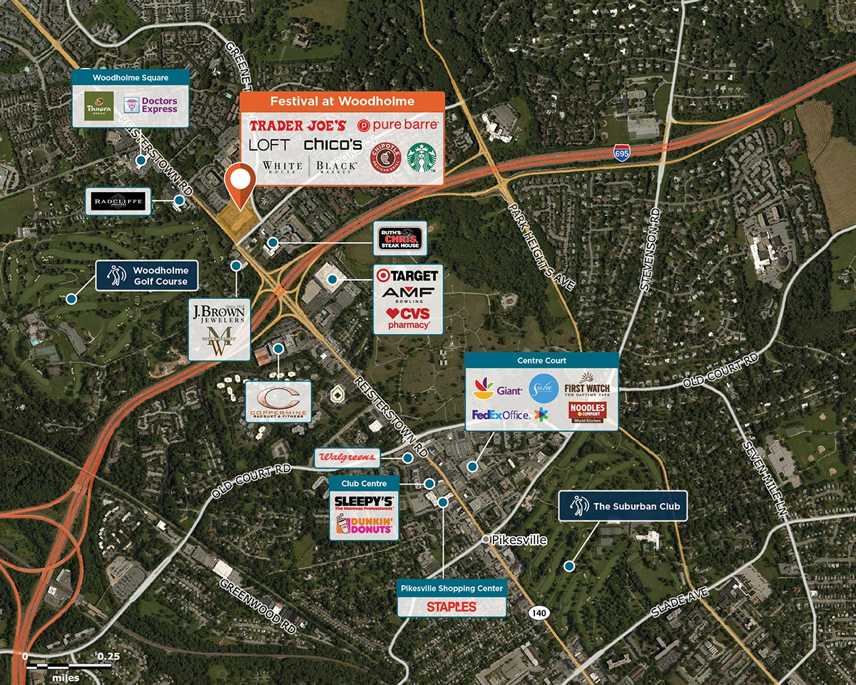Festival at Woodholme Trade Area Map for Baltimore, MD 21208