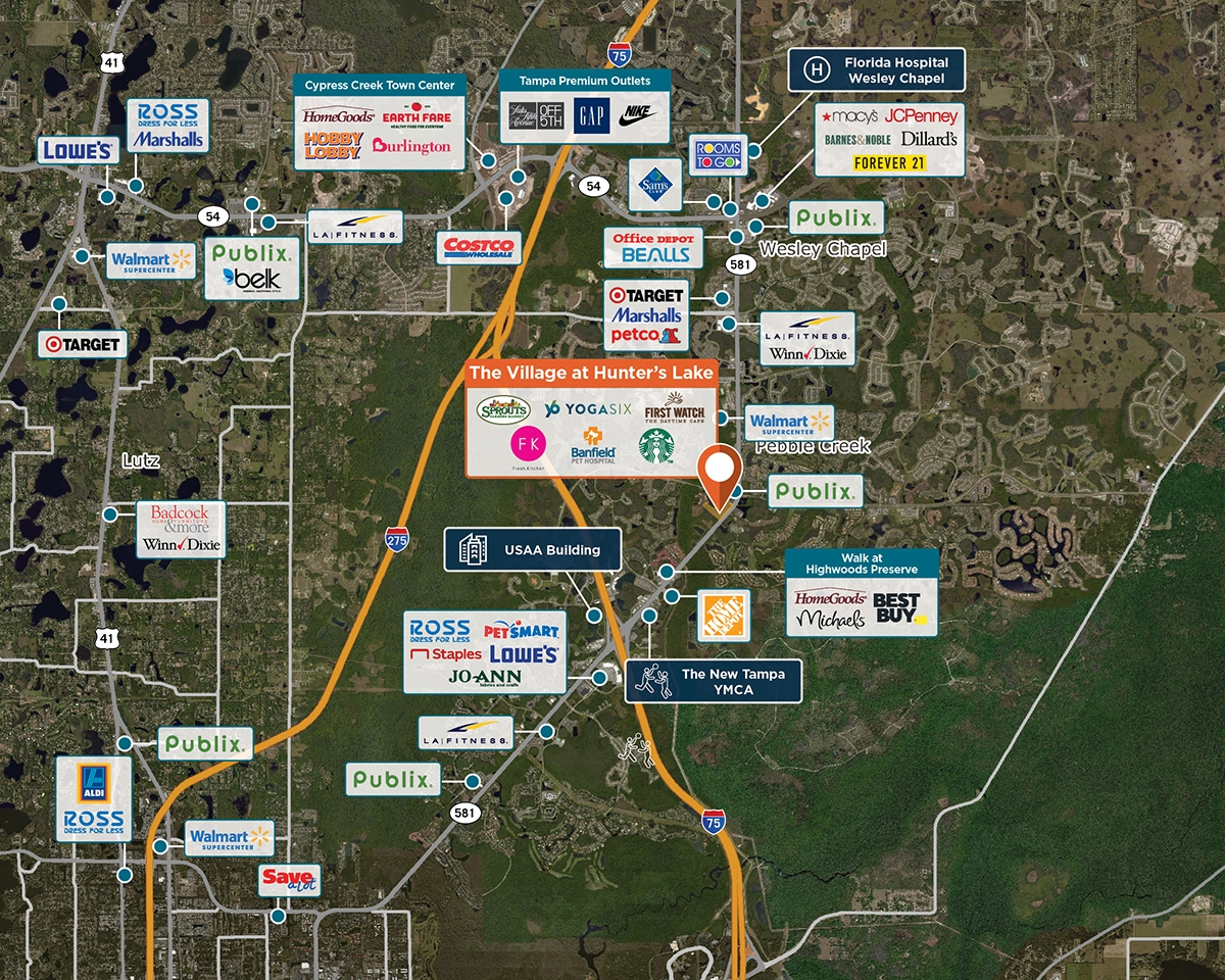 The Village at Hunter's Lake Trade Area Map for Tampa, FL 33612