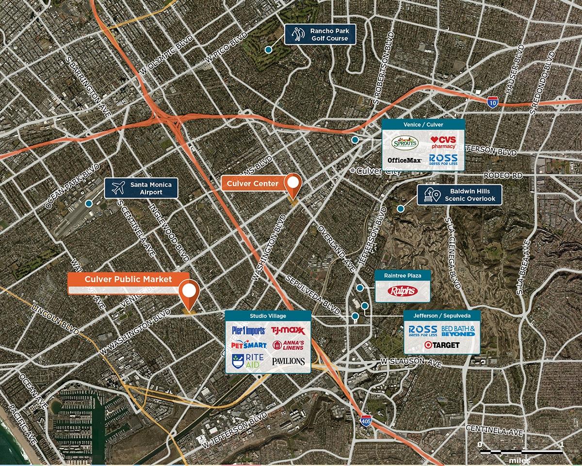 Culver Public Market Trade Area Map for Culver City, CA 90066