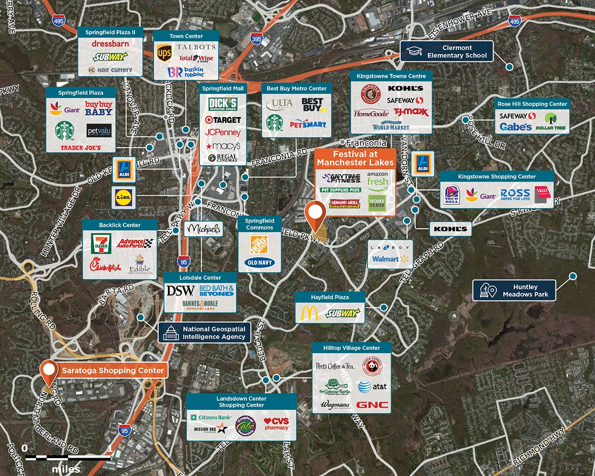 Festival at Manchester Lakes Trade Area Map for Franconia, VA 22310