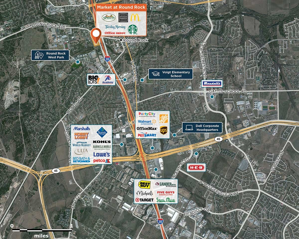 Market at Round Rock Trade Area Map for Round Rock, TX  78681