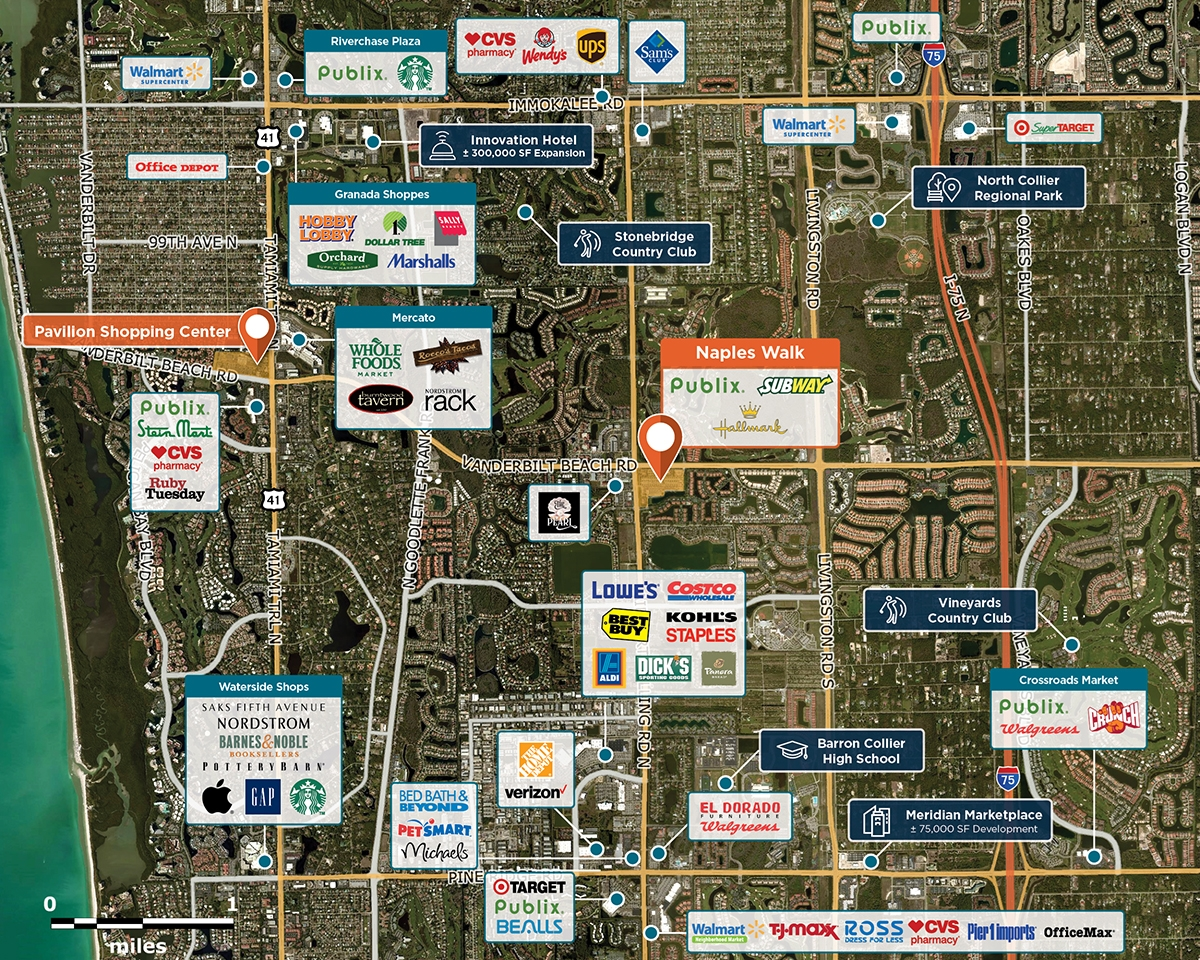 Naples Walk Trade Area Map for Naples, FL 34104