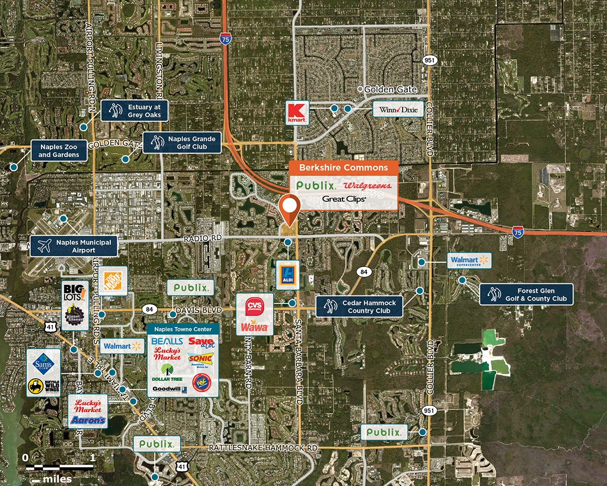 Berkshire Commons Trade Area Map for Naples, FL 34104