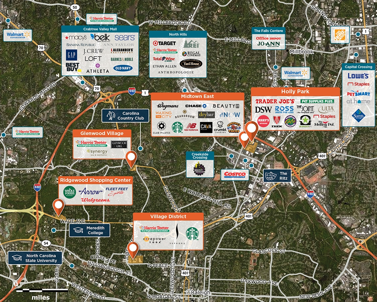 Holly Park Trade Area Map for Raleigh, NC 27604