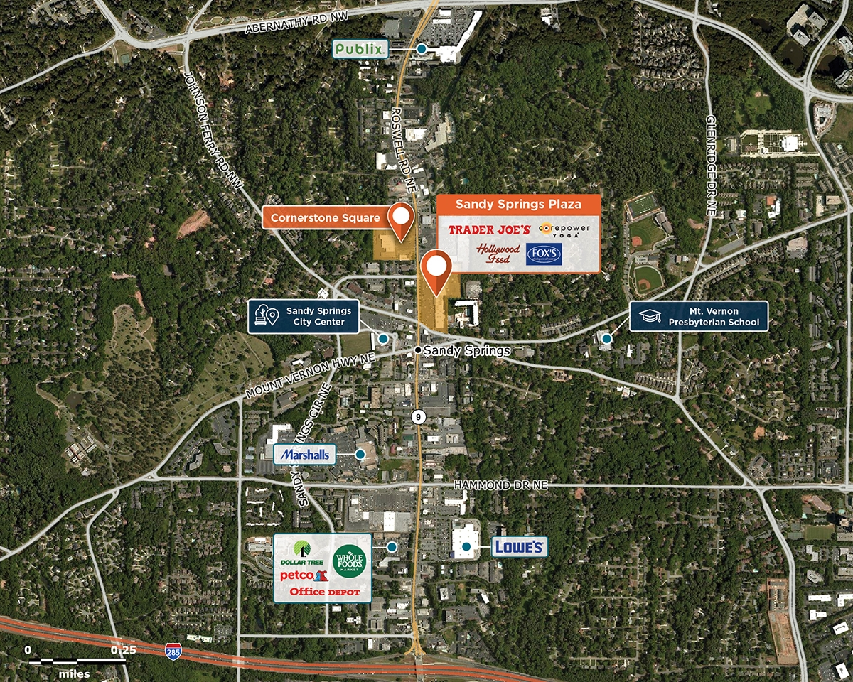 Sandy Springs Trade Area Map for Sandy Springs, GA 30328