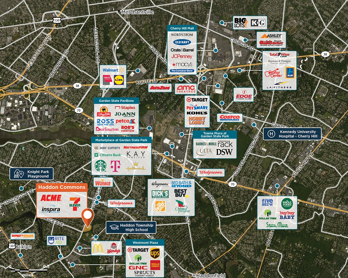 Haddon Commons Trade Area Map for Westmont, NJ 08108