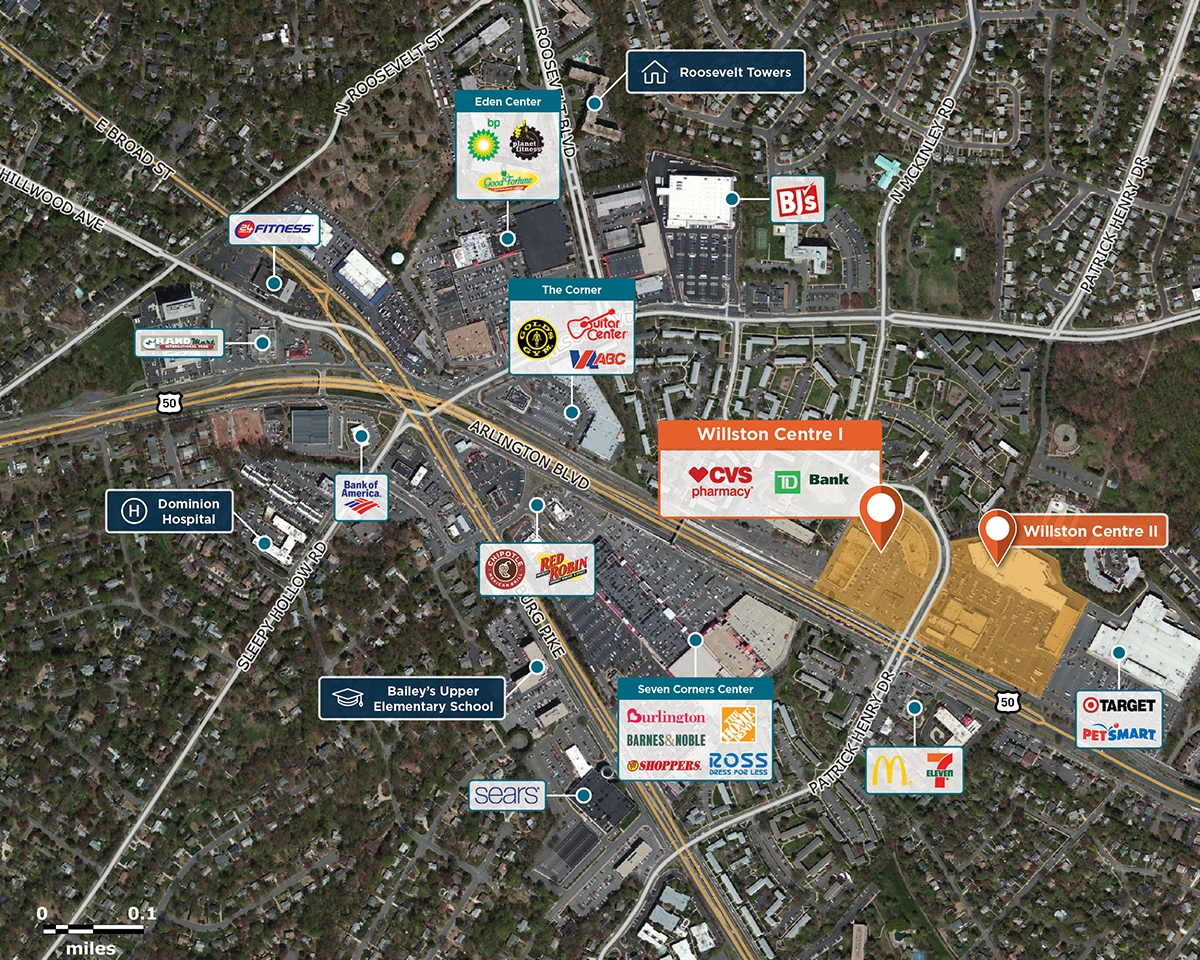 Willston Centre I Trade Area Map for Falls Church, VA 22044
