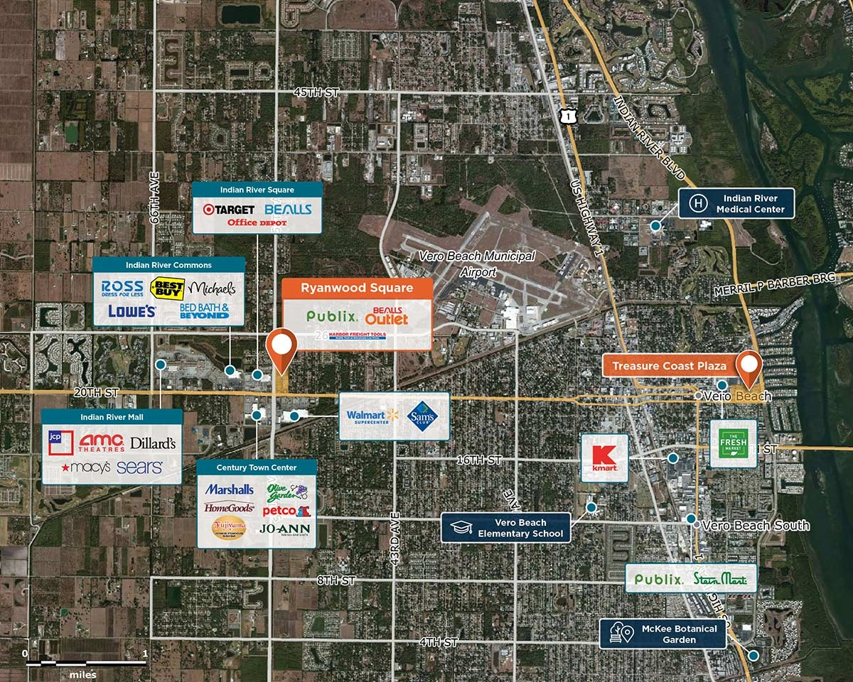 Ryanwood Square Trade Area Map for Vero Beach, FL 32966