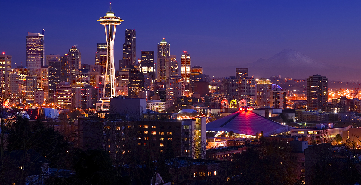 A view of the Seattle skyline.