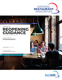 National Restaurant Association Repening Guidance