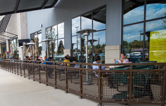 People Dining in Outdoor Patio