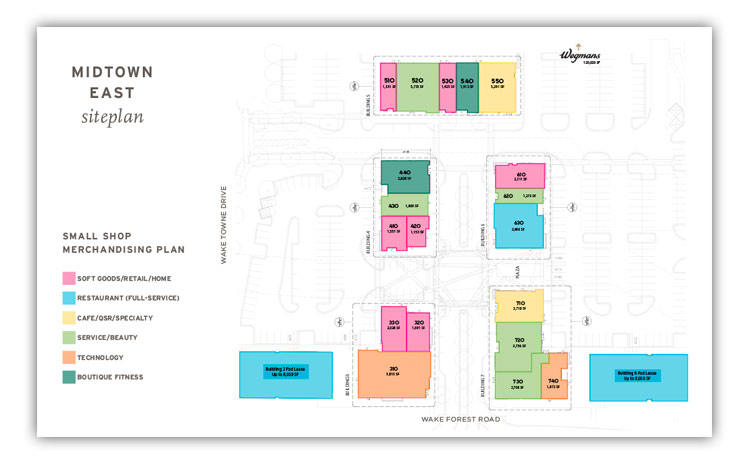 Midtown East Siteplan