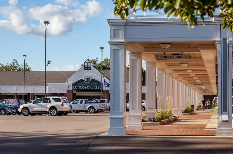 Colonial Square View of Shops