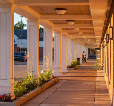 Outdoor Walkway at Colonial Square