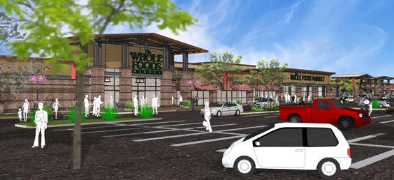 Encina Grande Parking and Storefronts