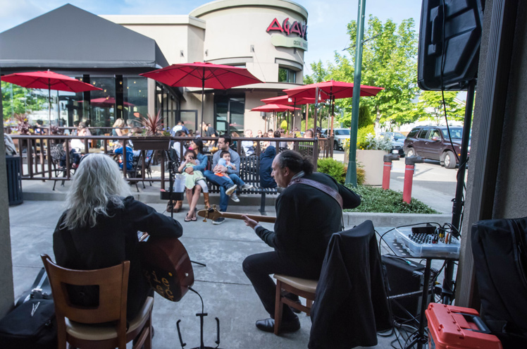 Musicians Playing at Grand Ridge Plaza