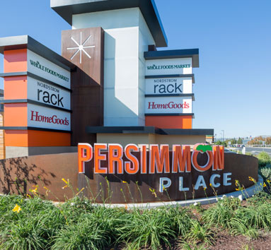 Persimmon Place Store Signage