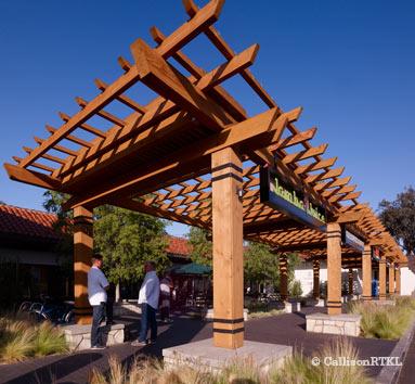 Trellis Roof at Westlake Plaza